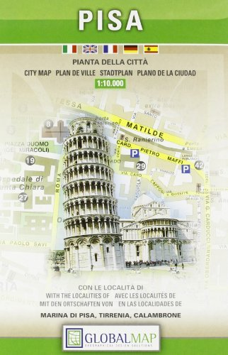 City Map Of Italy In English.Pisa Italy City Map 1 10 000 English Spanish French Italian And German Edition