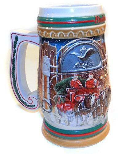 us topo - Budweiser 1997 Home for the Holidays Advertising Christmas Beer Stein Mug - Wide World Maps & MORE! - Kitchen - Black Market Antiques - Wide World Maps & MORE!