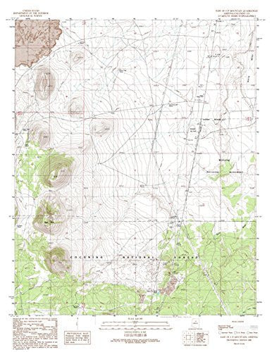 us topo - East of S P Mountain, Arizona (7.5'×7.5' Topographic Quadrangle) - Wide World Maps & MORE! - Map - Wide World Maps & MORE! - Wide World Maps & MORE!