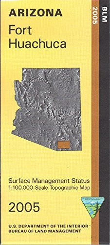 us topo - Arizona: Fort Huachuca : 1:100,000-scale topographic map : 30 X 60 minute series (topographic) (Surface management status) - Wide World Maps & MORE! - Book - Wide World Maps & MORE! - Wide World Maps & MORE!