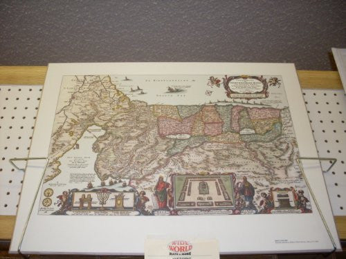 Antique Map Reproduction of The Holy Land
