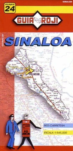 Sinaloa State Map by Guia Roji (English and Spanish Edition)
