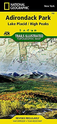 NAT GEO Adirondack Park Map, Lake Placid/High Peaks