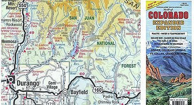 Topographic Recreational Map of Colorado Expanded Edition