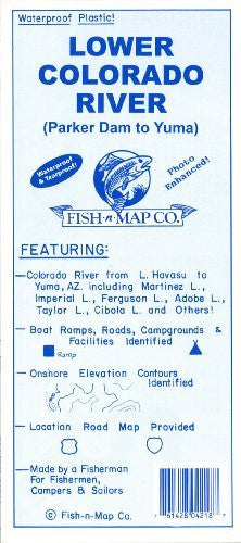 Fish-n-map Lower Colorado River (Parker Dam to Yuma)
