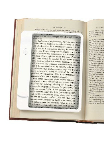 LED Book Light with Magnifier