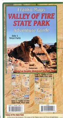 Franko Map California Valley Of Fire State Park Adventure Guide