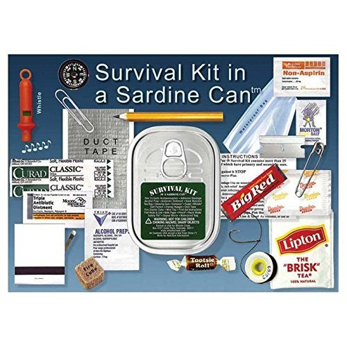 us topo - Whistle Creek Survival Kit in a Sardine Can - Wide World Maps & MORE! - Sports - Gaiam - Wide World Maps & MORE!