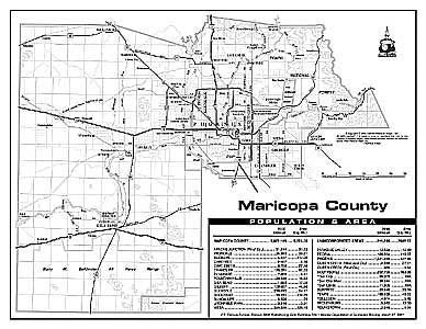 Maricopa County Notebook Map Gloss Laminated - 10 Count