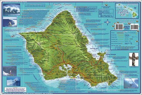 us topo - Franko's Oahu Surfing Map - Wide World Maps & MORE! - Book - Wide World Maps & MORE! - Wide World Maps & MORE!