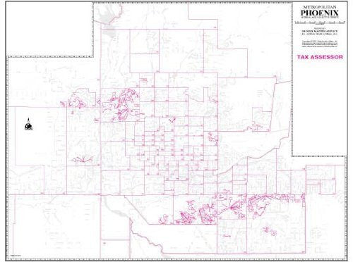 Metropolitan Phoenix Arterial and Collector Streets Tax Assessor Wall Map