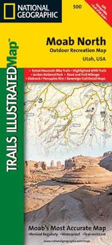 Moab North Outdoor Recreation Map: Utah