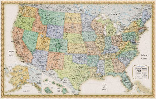 us topo - Rand Mcnally United States Wall Map (Classic Edition United States Wall Map) - Wide World Maps & MORE! - Book - Rand McNally - Wide World Maps & MORE!
