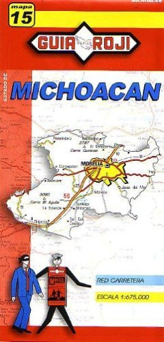 Michoacan State Map by Guia Roji (English and Spanish Edition)