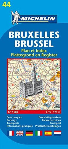 Michelin Map Brussels #44 (Maps/City (Michelin))