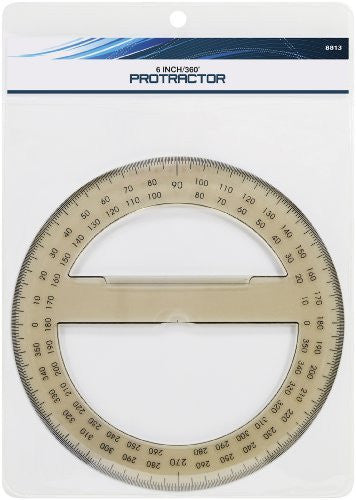 us topo - Art Advantage 6-Inch 360 Degree Protractor - Wide World Maps & MORE! - Art and Craft Supply - Art Advantage - Wide World Maps & MORE!