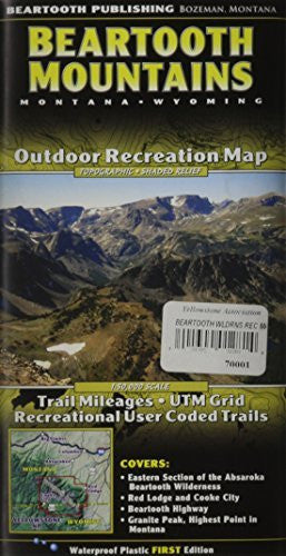Beartooth Mountains [2010] - Wide World Maps & MORE! - Map - Beartooth Publishing - Wide World Maps & MORE!