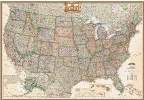 us topo - National Geographic RE00620114 United States Executive Map - Wide World Maps & MORE! - Office Product - National Geographic Maps - Wide World Maps & MORE!
