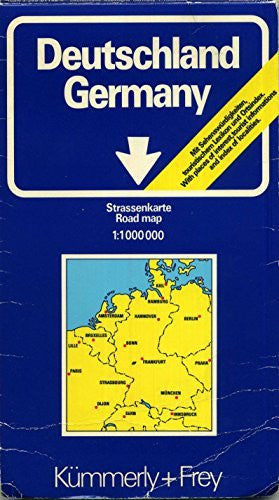 Deutschland Germany Strassenkarte Road Map 1:1000000