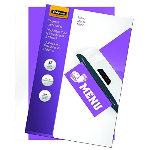 Fellowes Hot Laminating Pouches, Menu Size