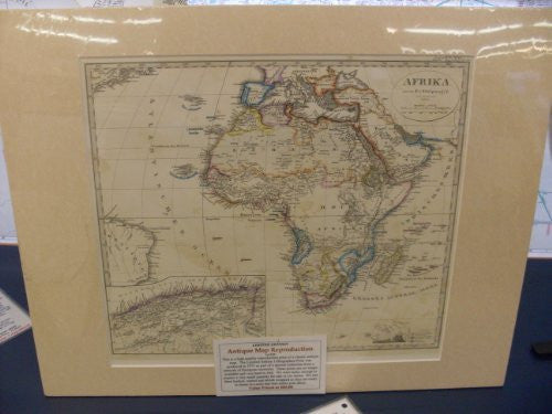 Antique Map Reproduction of Africa