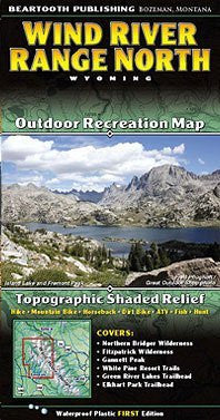us topo - Wind River Mountains Topographic Map - Northern Half - Wide World Maps & MORE! - Sports - Beartooth Publishing - Wide World Maps & MORE!