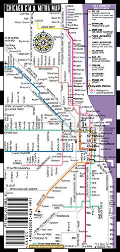Streetwise Chicago Map.Streetwise Chicago Bus Cta Metra Map Laminated Chicago Metro
