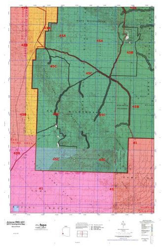 Arizona GMU 45C Hunt Area / Game Management Units (GMU) Map