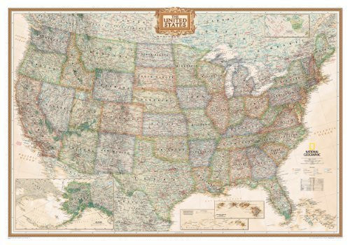 us topo - United States Executive Wall Map (tubed) (Reference - U.S.) [Map] [2006] (Author) National Geographic Maps - Wide World Maps & MORE! - Book - Wide World Maps & MORE! - Wide World Maps & MORE!