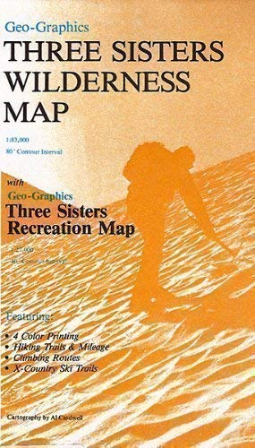 Three Sisters Wilderness Area Map - Paper