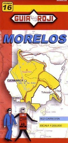 Morelos State Map #16 1:200 000 Guia Roji (English and Spanish Edition)