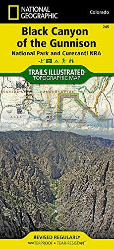 us topo - Black Canyon of the Gunnison National Park [Curecanti National Recreation Area] (National Geographic Trails Illustrated Map) - Wide World Maps & MORE! - Book - National Geographic - Wide World Maps & MORE!