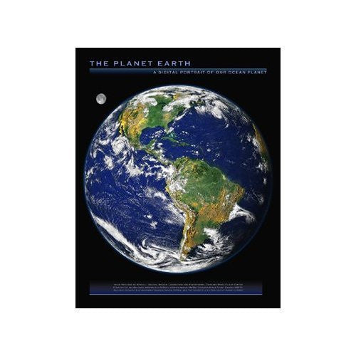 us topo - The Planet Earth: A Digital Portrait of Our Ocean Planet Gloss Lamination - Wide World Maps & MORE! - Book - Wide World Maps & MORE! - Wide World Maps & MORE!