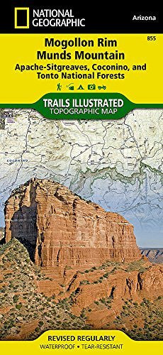 Mogollon Rim, Munds Mountain [Apache-Sitgreaves, Coconino, and Tonto National Forests] (National Geographic Trails Illustrated Map)