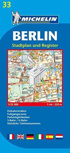 Michelin Map Berlin #33 (Maps/City (Michelin))