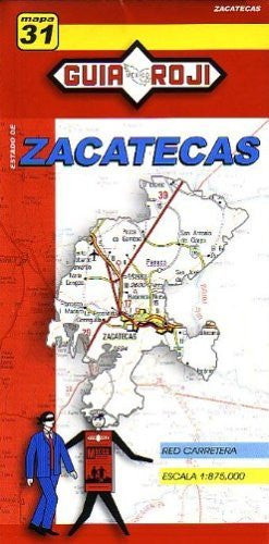 us topo - Zacatecas State Map by Guia Roji (Spanish Edition) - Wide World Maps & MORE! - Book - Guia Roji - Wide World Maps & MORE!