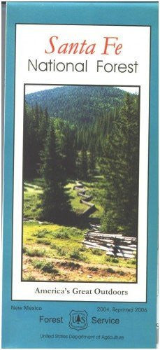 Santa Fe National Forest Map - Paper