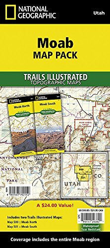 us topo - Moab [Map Pack Bundle] (National Geographic Trails Illustrated Map) - Wide World Maps & MORE! - Book - National Geographic Maps - Wide World Maps & MORE!