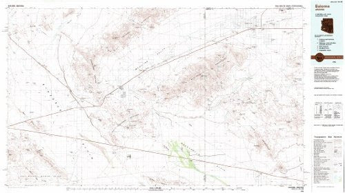 Salome, Arizona 1:100,000-scale Metric Topographic Map (30 x 60 Minute Quadrangle, TAZ1942) - Wide World Maps & MORE!