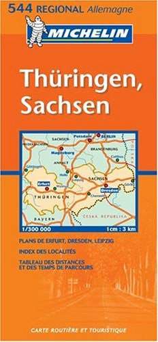 Michelin Germany Mideast: Allemagne Centre-Est (Michelin Map)