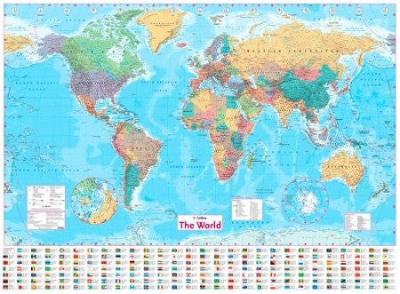 Collins World Wall Map