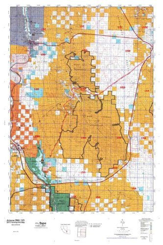 us topo - Arizona 15D Hunt Area / Game Management Units (GMU) Map - Wide World Maps & MORE! - Book - Wide World Maps & MORE! - Wide World Maps & MORE!