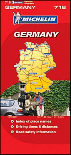 us topo - Michelin Map No. 718 Germany (Allemagne, Deutschland)Scale 1:750,000 (French Edition) - Wide World Maps & MORE! - Book - Wide World Maps & MORE! - Wide World Maps & MORE!