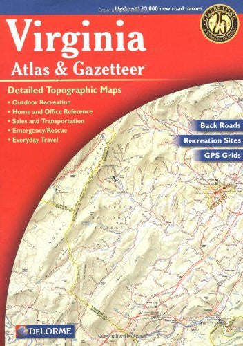 us topo - Virginia Atlas & Gazetteer - Wide World Maps & MORE! - Book - Delorme - Wide World Maps & MORE!