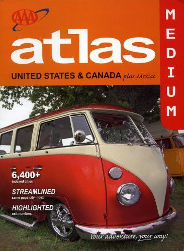 AAA Atlas of United States & Canada plus Mexico - Medium size Road Atlas