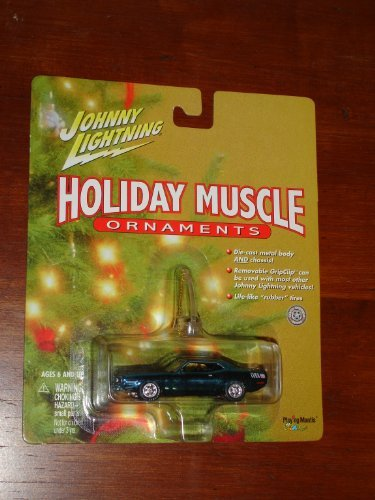 Johnny Lightning Holiday Muscle Ornaments 1970 AAR Cuda - Wide World Maps & MORE! - Toy - Holiday Muscle Series - Wide World Maps & MORE!