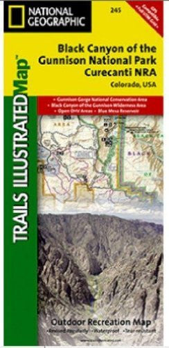 us topo - National Geographic TI00000245 Map Of Black Canyon Of The Gunnison - Colorado - Wide World Maps & MORE! - Office Product - National Geographic - Wide World Maps & MORE!