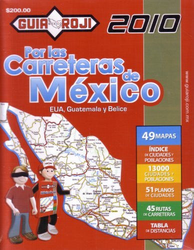 "us topo - 2010 Mexico Road Atlas ""Por las Carreteras de Mexico"" by Guia Roji (Spanish Edition) - Wide World Maps & MORE! - Book - Wide World Maps & MORE! - Wide World Maps & MORE!"