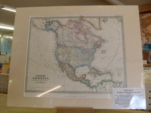 Antique Map Reproduction of North America