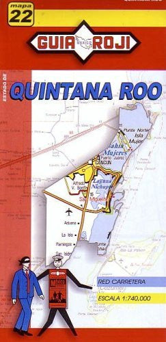 Quintana Roo State Map by Guia Roji